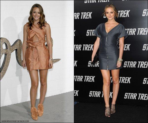 En attendant les news :  Quelle tenue de Leighton préfères tu  ?   .   Personnelemnt j'adore Leighton dans la robe grise elle est magnifique & toi ? ; )