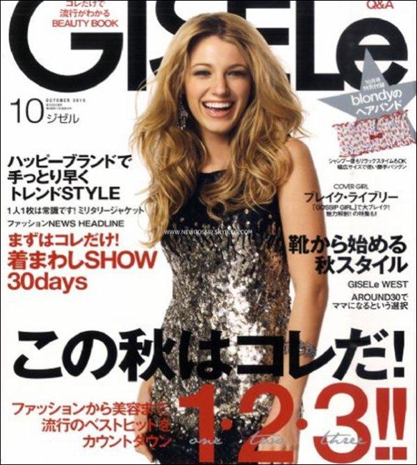 """Voici un scan de Blake pour l'édition japonaise  du mois d'octobre du magasine """" Gisele """"   .   J'adore  ce scan Blake est magnifique , j'aime son sourire & toi ? ; )"""