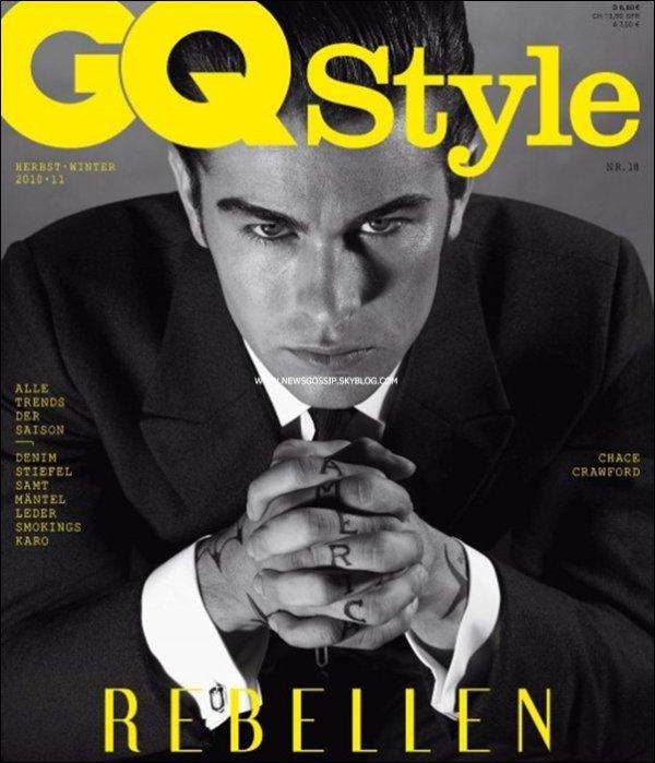 """Chace fais la couverture de l'editionn d'hiver du magasine """" GQ Style """"    .    Chace est magnifique comme toujours mais je n'aime pas du tout cette photo & toi ? ; )"""