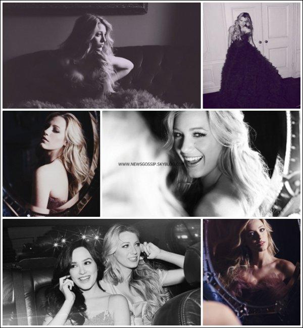 ~ Decouvrez ou re decouvrez ce sublime photoshoot de Blake pour le magasine  ENTERTAINMENT WEEKLY   .     J'aime beaucoup ce shoot c'est l'un de mes preferer , je la trouve sublime elle me fait penser un peu a une princesse  & toi tu en pense quoi ?
