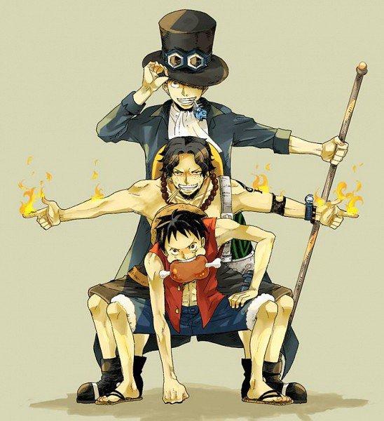 Quelques images sur Sabo : Ace : Luffy (l'évolution si Sabo était encore en vie et Ace un peu plus tard R.I.P)
