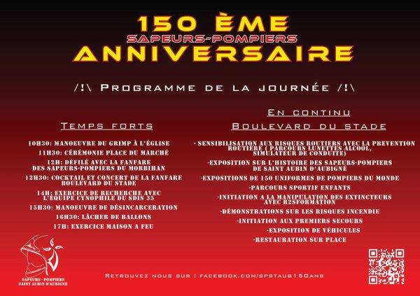 150 ans des Sapeurs-Pompiers de Saint Aubin d'Aubigné le 24 MAI 2014