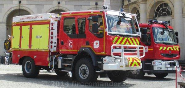 Journée nationale des sapeurs-pompiers 2014 à Rennes
