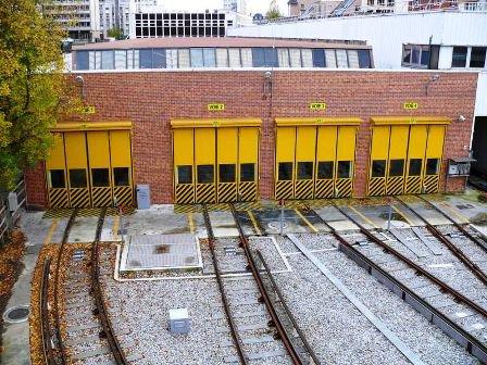 L' atelier RATP de charonne, qui abrite les rames de la ligne 2