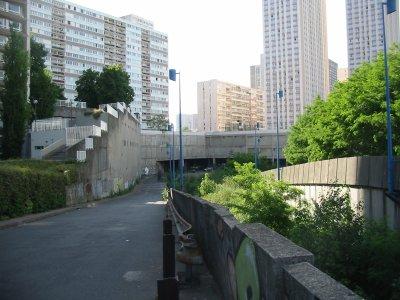 Vue de la gare de gobelins( Paris 13è ), rue nationale !