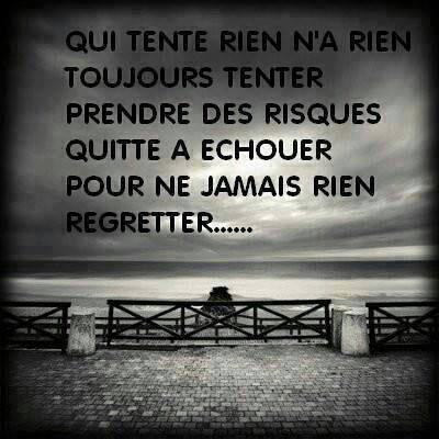 ne jamais regretter