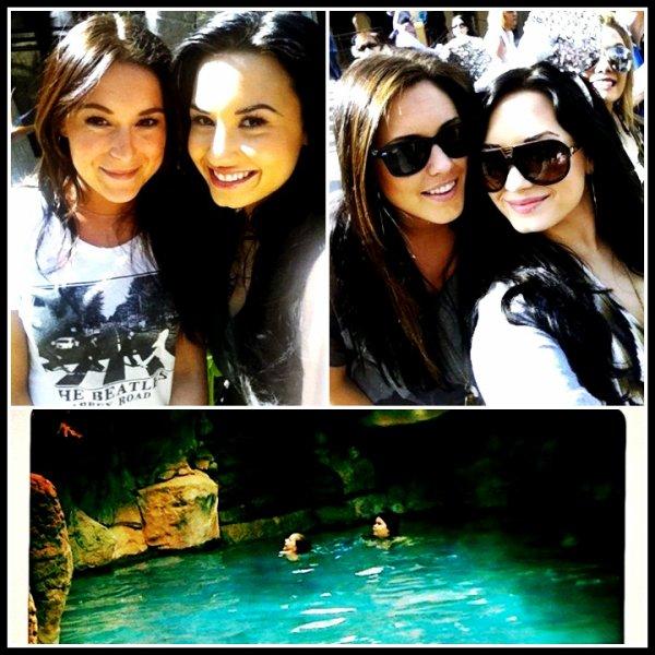 23/03/2011 Demi à poster sur Twitter une photo d'elle avec Alexa Vega :) + Photo d'elle et Jenna Schubart + Une autre photo ou on peut voir sa soeur a droite :)