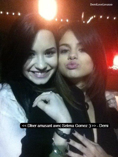 26/03/2011 Demi a Dîner avec Selena Gomez :)