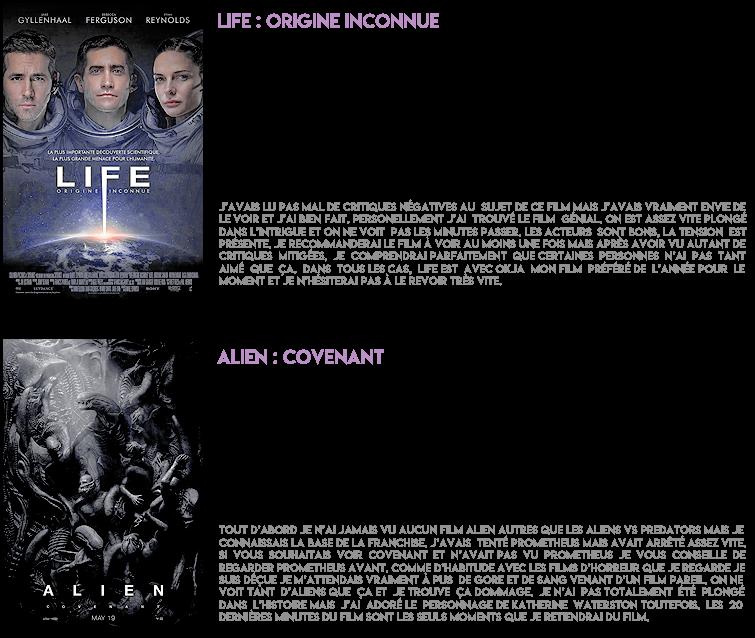 Les derniers films vus