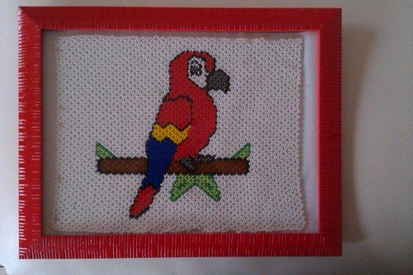 tapisserie perroquet