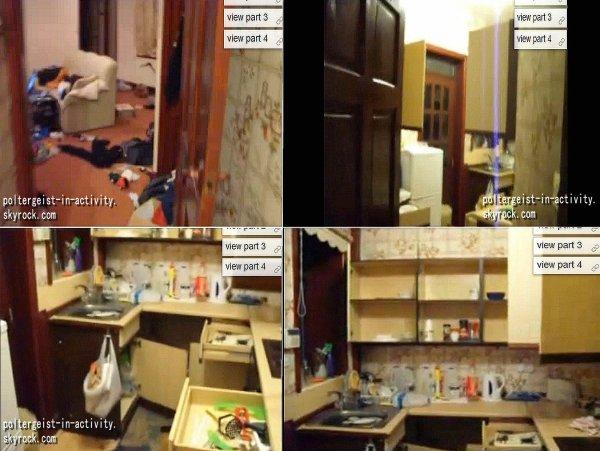 Incroyable cuisine !  . En ouvrant la porte de sa cuisine ce propriétaire découvre tous les placard ouvert, il décide de les fermer et lorsqu'il s'apprête à quitter la pièce les portes s'ouvre à nouveau à son grand étonnement. La video ne marchant que sur la chaine You Tube on vous invitent à la visionner ➪ ICI   .