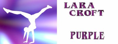 lara croft purple