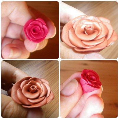 Rose en pâte Fimo