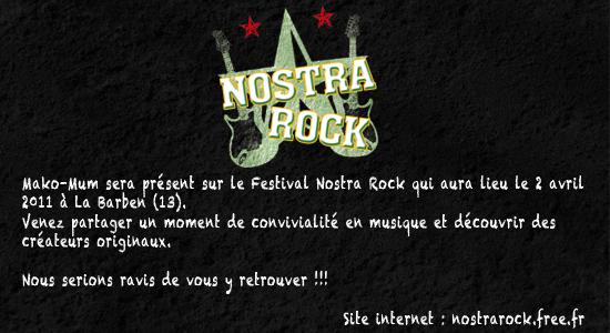 """Si vous voulez voir les shoes en vrai.... Allez au Festival """"Nostra Rock"""" le 2 Avril"""