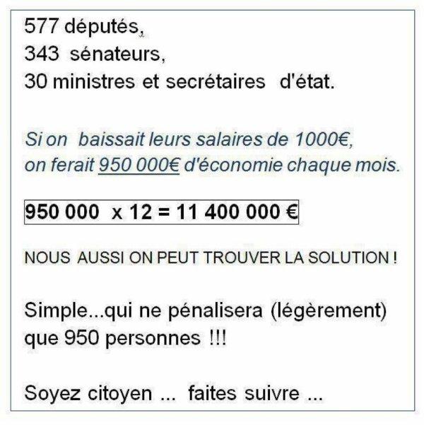 SOLUTION POUR LES POLITICIENS POUR LES DETTES DES PAYS