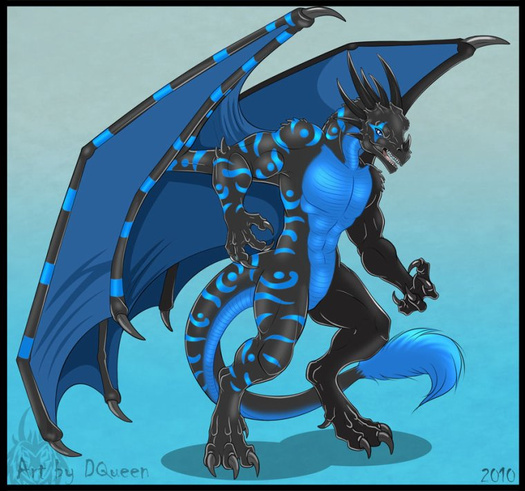 Blue le dragon humanoïde