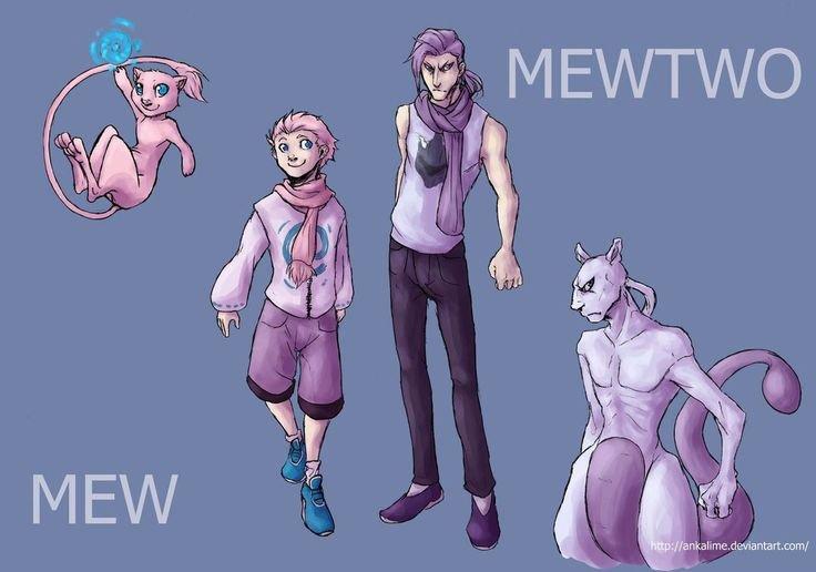 Mew et Mewtwo :3