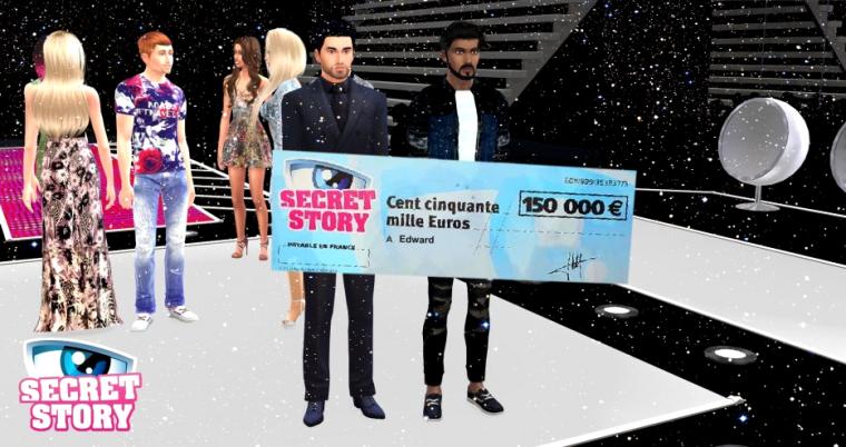 Edward remporte Secret Story Sims !