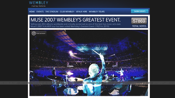 Muse, vainqueur  du Wembley's Greatest Events.