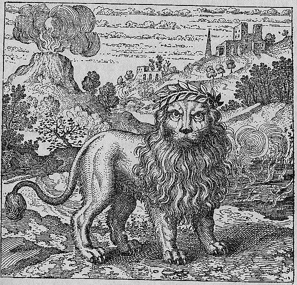 Lion Vert et vapeur de souffre