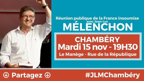 MÉLENCHON À CHAMBÉRY
