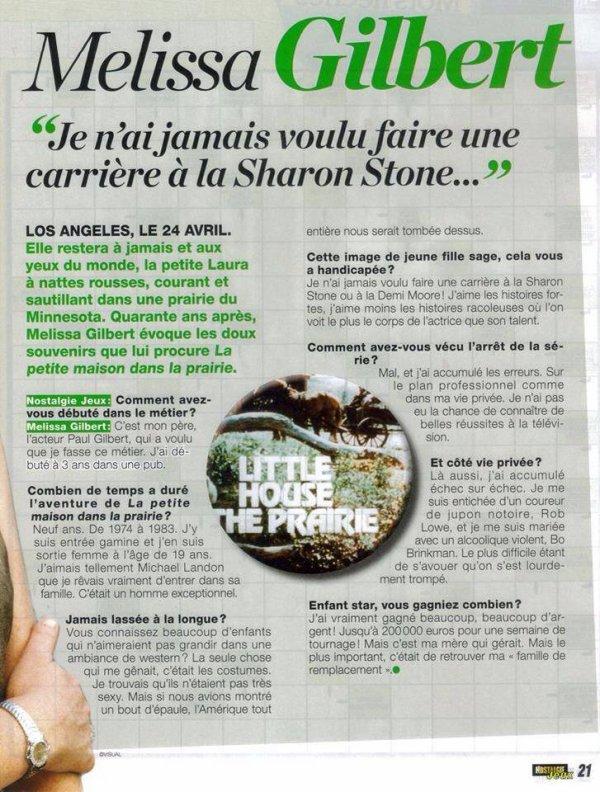 Une petite interview sympa de Melissa Gilbert