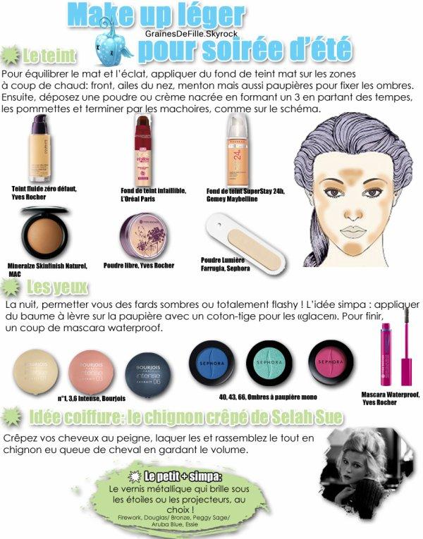 Make up léger pour soirée d'été