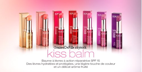 Les nouveaux baumes à lèvres de Kiko !