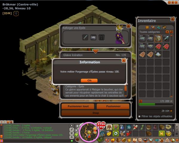 Forgemage d'épées niveau 100 =)