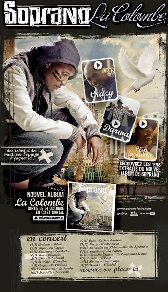 Soprano - La Colombe- Dans les bacs depuis le 4 Octobre 2010