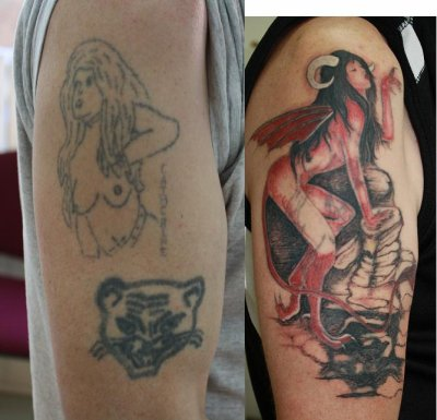 recouvrement d 39 un tattoo fait a l 39 arrache b i e n v e n u e. Black Bedroom Furniture Sets. Home Design Ideas