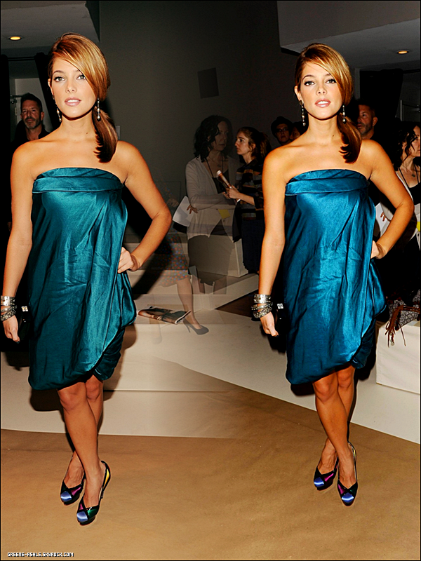 . 13 Sept. 2010   Ashley était de sortie au salon de la mode Donna Karan.  .