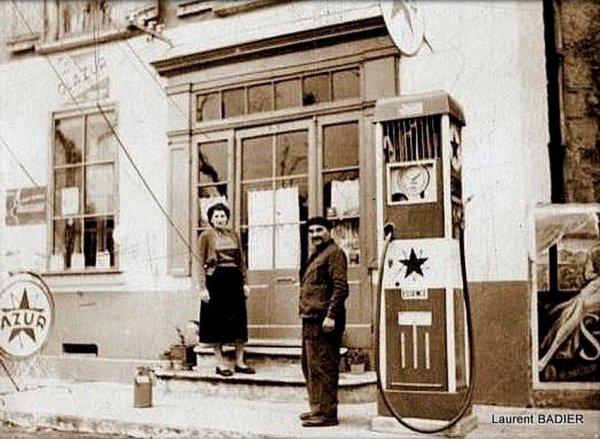 poste d'essence sur la RN86