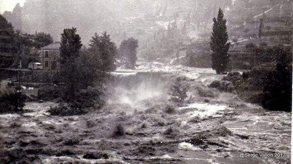 Innondation d'août 1963 à Tournon