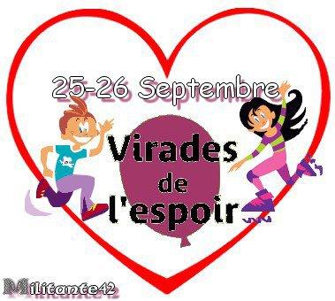Ce weekend 25-26 Septembre 2010 Virades de l'espoir  Ecotay l'Olme