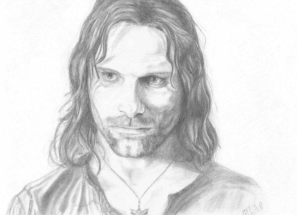 Aragorn mes p 39 tits dessins - Dessin seigneur des anneaux ...
