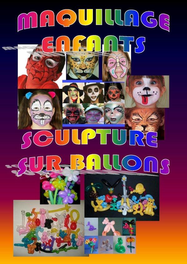 maquillage enfants et sculpture sur ballons
