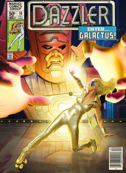 Cosplays de Galactus et Dazzler