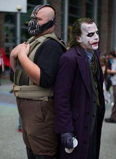 Cosplay Bane et le Joker