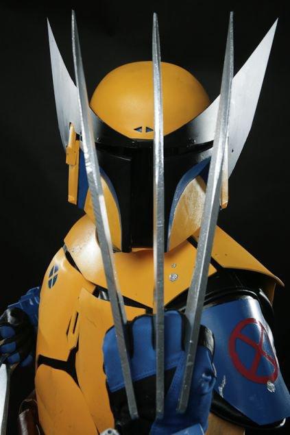 Cosplay Boba Fett en Wolverine