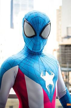 Cosplay Spider-Man en Captain America
