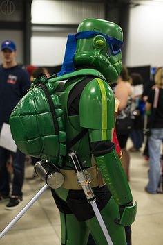 Cosplay Stormtrooper en Tortue Ninja