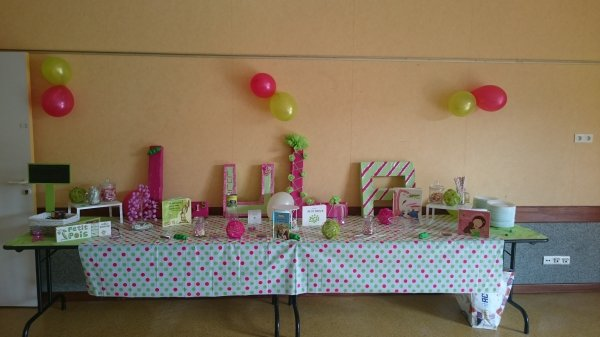 Sweet table princesse au petit pois