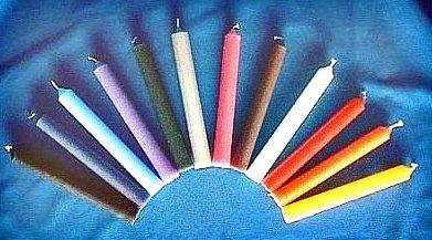 La couleur des bougies en magie blanche