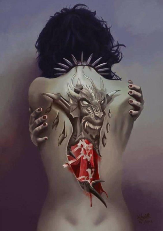 Les démons du passé finissent toujours par ressugir quand on ne s'y attend pas.......Avec le temps il faut apprendre à les combattre et ne pas retomber dans un gouffre.....(Moi)