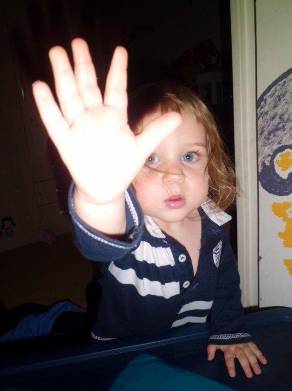 Une de mes joies de vivre dans ma vie mon fils Brandon quatorze mois