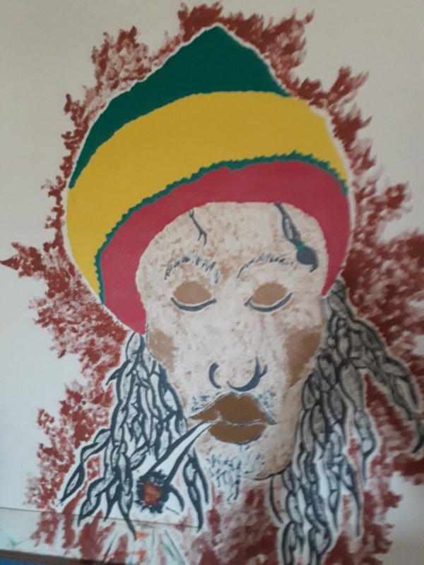 Fresque mural faite par moi il y a un certain temps......