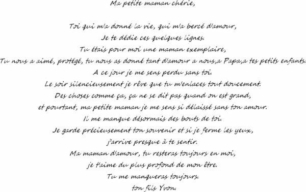 poeme pour ma maman