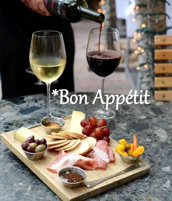 Bonjour je vous souhaite un excellent appétit, un bon après midi de dimanche