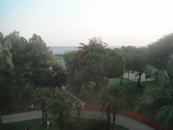 Vue sur mer de la chambre de l'hôtel